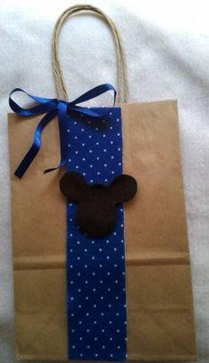 Sacolinha Kraft Tema Mickey e Minnie 01