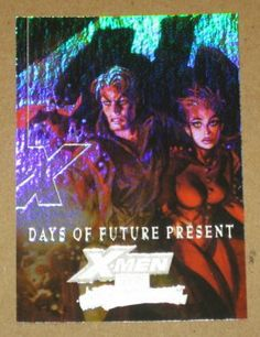 Marvel Masterpieces Set 3 (UDC 2008) X-Men Chase Card XM 1 Days of Future Present EX