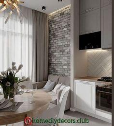Home design natural kitchens 48 ideas Deco Design, Küchen Design, House Design, Interior Design Living Room, Living Room Designs, Living Room Decor, Living Rooms, Small Apartment Design, Home And Deco