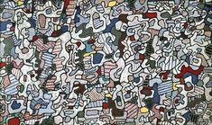 """""""l Hourloupe"""", encre de Jean Philippe Arthur Dubuffet (1901-1985, France)"""