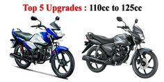 Top five upgrades: 110cc to 125cc segment