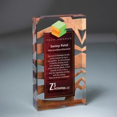 "Lucite Infusion Embedded Imprint...Lucite Infusion Award with Embedded Imprint, 1"" thick. A Pacesetter awards exclusive. The infusion process creates a floating effect by printing full-color graphics between lucite tablets and fusing them together to create one piece. Imagine your graphics, logos, buildings, photographs, landscapes, signage, gifts and products in amazing full color!"