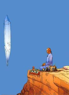 Jean Giraud, Illustrations, Illustration Art, Nogent Sur Marne, Moebius Art, Ligne Claire, Bd Comics, Science Fiction Art, Art Graphique