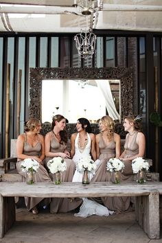 read more 20 BRIDAL PARTIES WEARING NEUTRAL AT REAL WEDDINGS Neutral bridesmaid colors, Neutral bridesmaid | fabmood.com