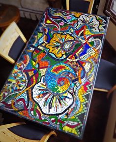 Image Result For Round Mosaic Bullseye Table | Mosaic Table | Pinterest