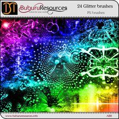 24 Glitter Photoshop brushes