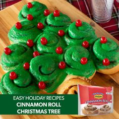 Fill your Christmas table with these delicious recipes from Rhodes Bake-N-Serv®. Rhodes Dinner Rolls and Cinnamon Rolls bring family and friends together throughout the season. These recipes ar Christmas Deserts, Christmas Brunch, Christmas Appetizers, Christmas Breakfast, Christmas Goodies, Christmas Specials, Christmas Candy, Christmas Eve, Easy Holiday Recipes