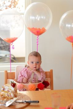 confetti filled balloons & large poms