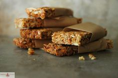 Pumpkin Granola Bars | Just a tweak on the type of sugar and these would be great...