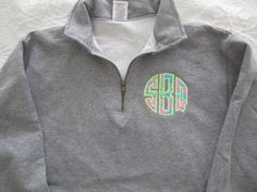 sweatshirt with Lilly Pulitzer monogram. $40.00, via Etsy.
