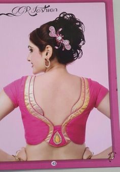 We are here with selected Back Neck Blouse Designs Patterns for modern look and glamourous style. Patch Work Blouse Designs, Simple Blouse Designs, Saree Blouse Neck Designs, Stylish Blouse Design, Dress Designs, Blouse Designs Catalogue, Designer Blouse Patterns, Blouse Styles, Indian