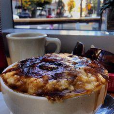Brown Sugar Brûlée and Stumptown Coffee at Lovejoy Bakers. Pearl District. Portland!