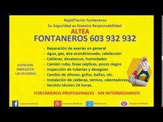 Fontaneros Altea 603 932 932 PLUMBERS