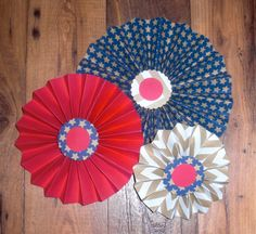 Fourth of July Red white and Blue Paper fans 3 by Craftsbyjilly, $9.50