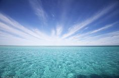 The pristine waters of Elizabeth Reef stretch endlessly in front of visitors. The secluded and rarely seen wonder is about 145km north of Lo...