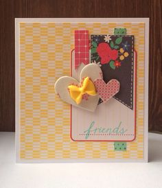 American Crafts products on a simple card with a Hero Arts stamp