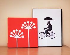 Make DIY wall art with office supplies | How About Orange