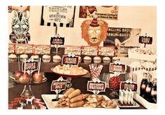 Vintage Circus Carnival Birthday Party Printables $8