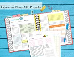 14o+ Pgs Homeschool Planner Binder Notebook Curriculum Planner Guide Digital PDF Instant Download