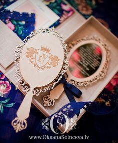 Mirror Invitation by oksanagap on Etsy-princess bday party
