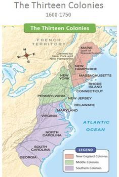 13 Colonies Map Text Reading   Social Studies   Teaching history ...
