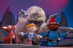Rudolph the Red Nosed Reindeer - Rudolph, Hermey, Yukon Cornelius and The Bumble (I still watch this every year, my favorite!)