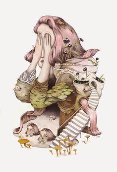 Illustrations by Andrea Wan | http://ineedaguide.blogspot.com/2015/03/andrea-wan-update.html #drawings #illustrations