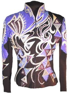 Brown Carolina Jacket with Lavender, Gold, and Burgundy Foil - Showtime Show Clothing