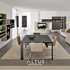 Living room system by Euromobil, made in Italy. www.Altus.me #InteriorDesign #Luxury #furniture #storage #contemporary #modern #home #design #madeinitaly #interiors