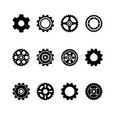 DMX, Gear Silhouettes Royalty Free Stock Vector Art Illustration