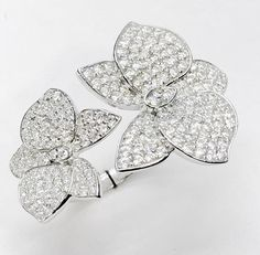 pave flowers rings