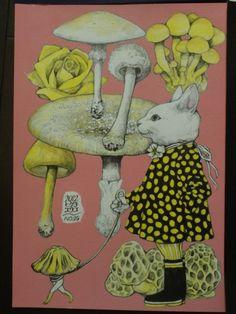 ヒグチユウコ画 2012 きのこ展出品