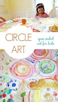 Circle Art - Open Ended Art for Kids