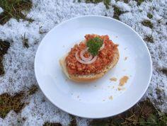 Reiswaffel-Tomaten-Zwiebel-Aufstrich (Veganes Mett) - http://barbaras-spielwiese.blogspot.de/2015/02/reiswaffel-tomaten-zwiebel-aufstrich.html