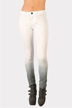 Ombre Skinny Jeans - White at Necessary Clothing from Necessary Clothing. Saved to Epic Wishlist. Love Fashion, Fashion Outfits, Fashion Design, Sweater Weather, Couture Fashion, Autumn Winter Fashion, White Jeans, Pants For Women, Cute Outfits