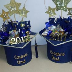 Graduation Centerpieces I hand made!! #graduation #centerpieces #handmade #AllThingsCherished