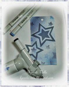 Copic Marker Europe: Christmas tag with airbrushing