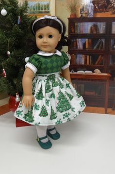 O Tannenbaum  vintage style dress for American by cupcakecutiepie