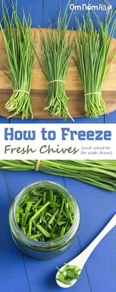 How to Freeze Fresh Chives is part of How To Freeze Dry Chives Steps With Pictures Wikihow - It's incredibly easy to freeze fresh chives, so you can preserve the harvest whenever you have a glut of this flavourful herb Freezing Fruit, Freezing Vegetables, Fruits And Veggies, Freezing Fresh Herbs, Freezing Onions, Dehydrated Vegetables, Freezer Cooking, Cooking Tips, Freezer Meals