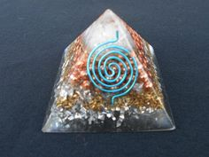 Amethyst Crystal Orgonite Pyramid Orgone by JTribeCreations