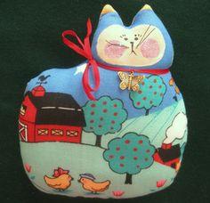 cat pillow doll farm theme