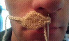 ChemKnits: Freestanding Knit Mustache