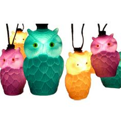 Vintage Owl Party String Light Set
