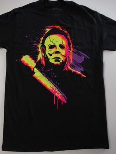4ad07df763a995 Details about Michael Myers Boogeyman Halloween Neon Horror Movie T-Shirt