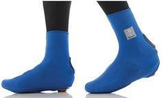 Santini 365 Peel Lycra Overshoes - Blue | Merlin Cycles