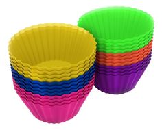 Effiliv 24 Piece Silicone Baking Cups Reusable Cupcake Muffin Standard Size ** Check out this great image @ : Baking Accessories