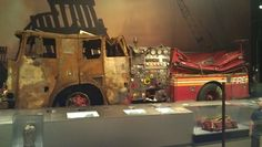 Engine Company 6 truck that was destroyed by the North Tower on September 11, 2001...on display at the New York State Museum of Natural History in Albany, NY. #911memorial
