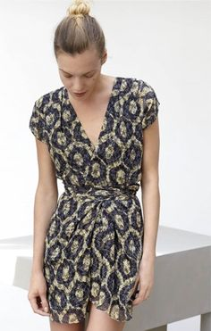 Isabel Marant Resort 2016- I adore the topknot! Camera shy in designer summer fashion & hair