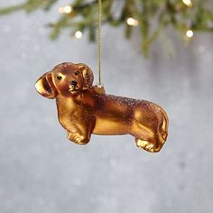 Find modern Christmas decorations with old-fashioned charm and mid-century simplicity. Shop the entire holiday decor collection at west elm. Modern Christmas Decor, Christmas Decorations, Animals And Pets, Cute Animals, Felt Christmas Ornaments, Christmas Décor, Weenie Dogs, Dog Rules, Dachshund Love