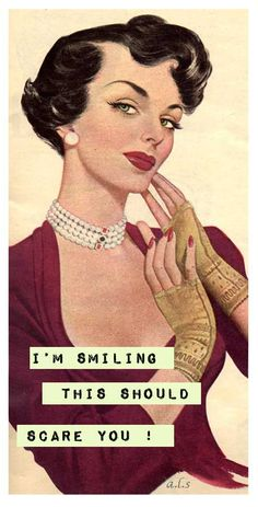 i'm smiling......